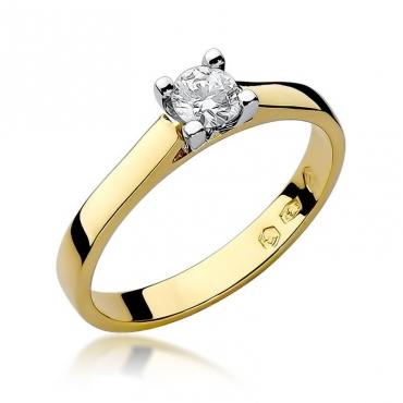 Złoty pierścionek z diamentem EY-221B 0,25ct