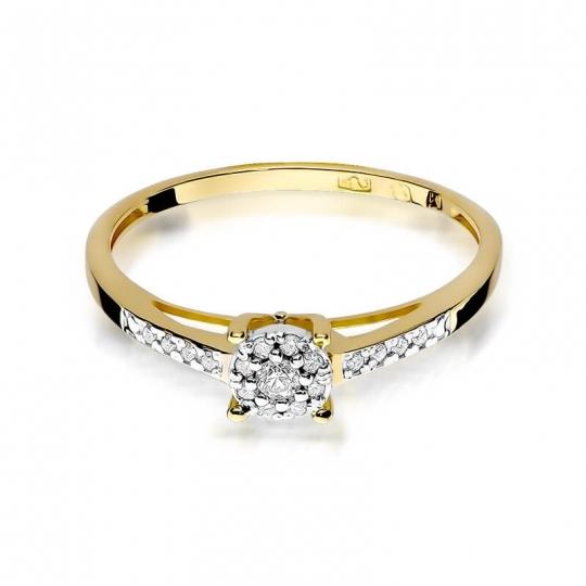 Złoty pierścionek z diamentem EY-55 0,12ct
