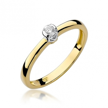 Złoty pierścionek z diamentem EY-131 0,10ct