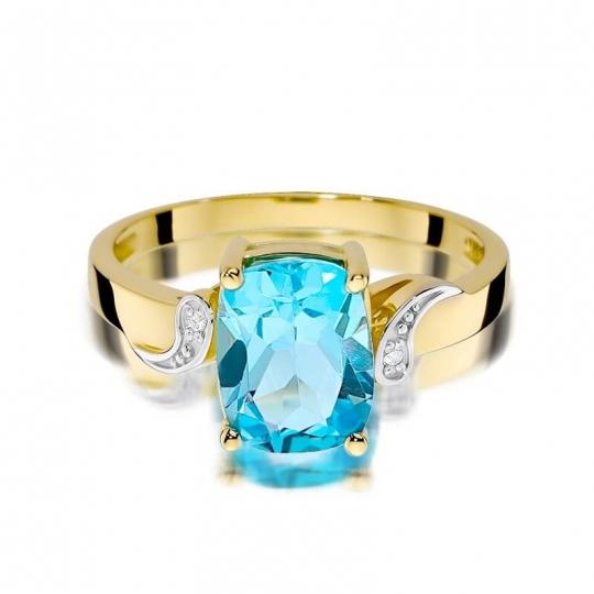 Złoty pierścionek z diamentem EY-400 topaz