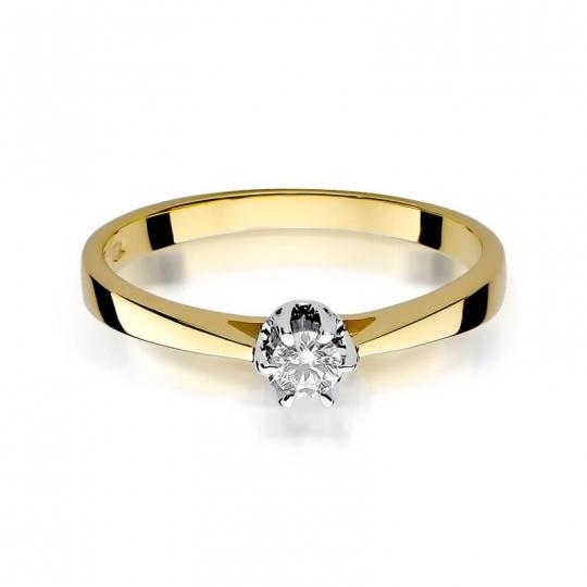 Złoty pierścionek z diamentem EY-295 0,12ct