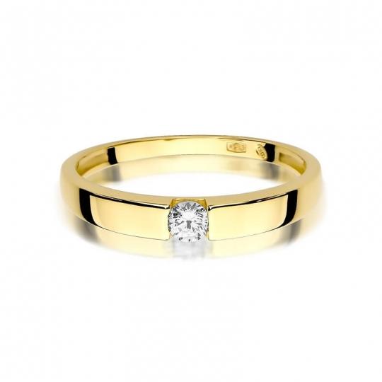 Złoty pierścionek z diamentem EY-432 0,12ct