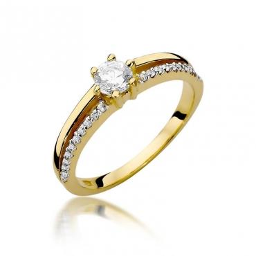 Złoty pierścionek z diamentem EY-355 0,40ct