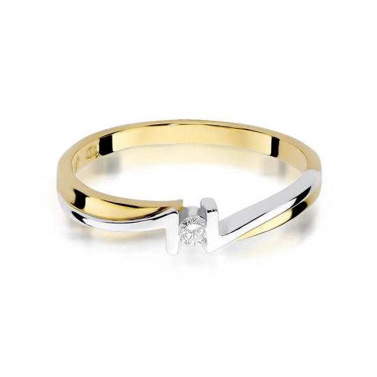 Złoty pierścionek z diamentem EY-204 0,04ct