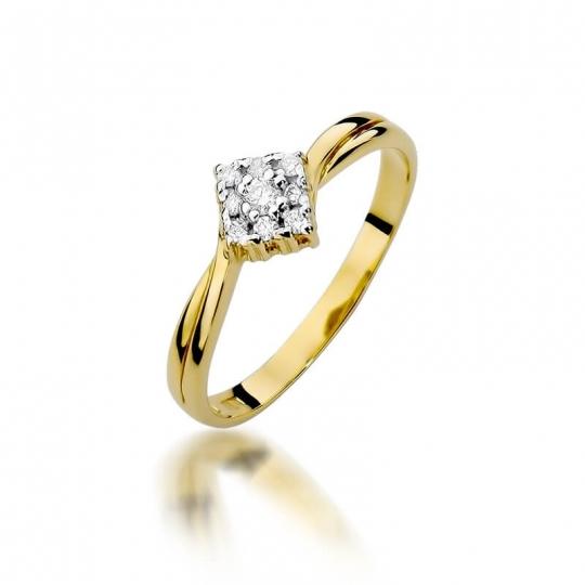 Złoty pierścionek z diamentem EY-275 0,09ct