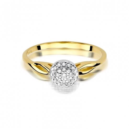 Złoty pierścionek z diamentem EY-421 0,12ct