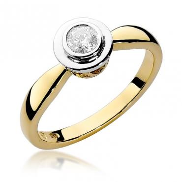 Złoty pierścionek z diamentem EY-294 0,30ct