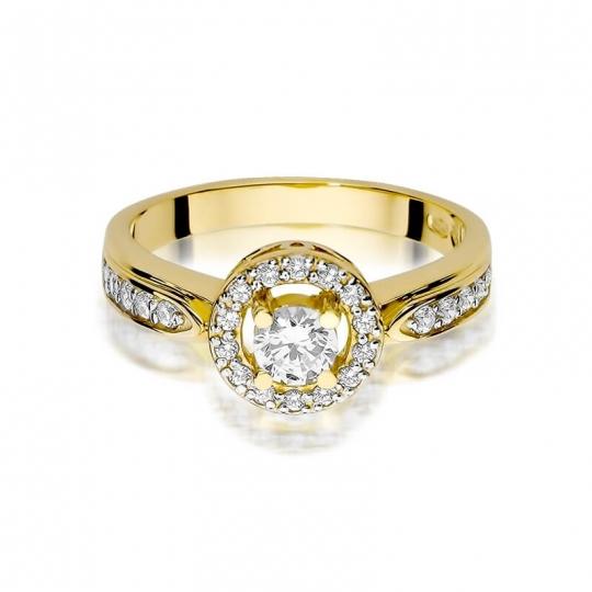 Złoty pierścionek z diamentem EY-363 0,51ct