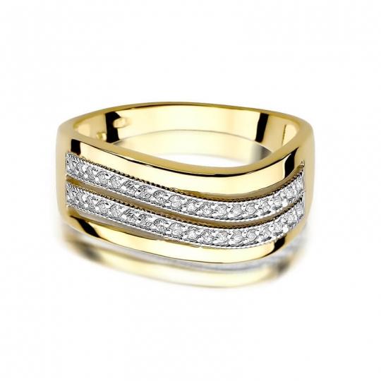 Złoty pierścionek z diamentem EY-416 0,18ct