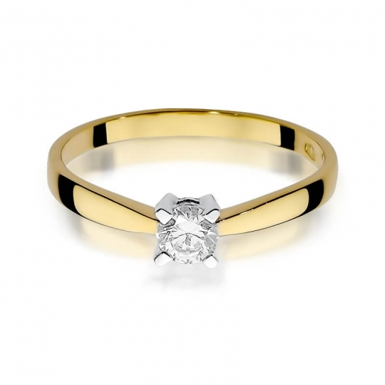 Złoty pierścionek z diamentem EY-242 0,20ct