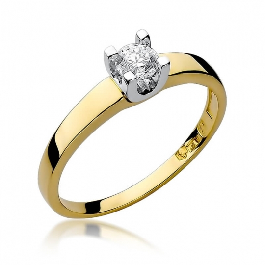 Złoty pierścionek z diamentem EY-225B 0,25ct