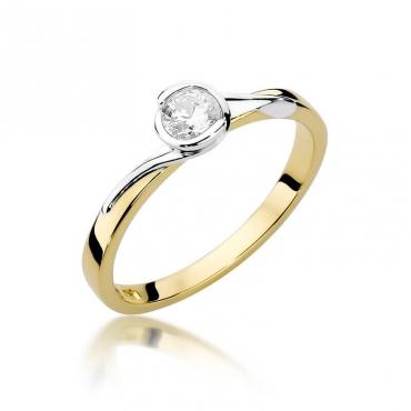 Złoty pierścionek z diamentem EY-357 0,25ct