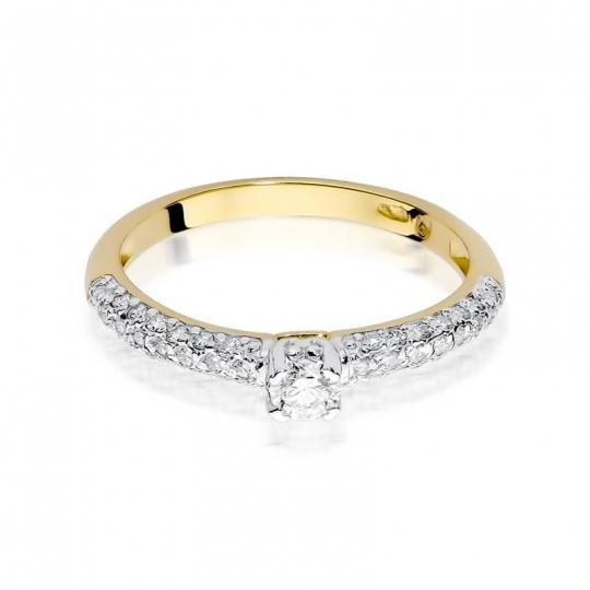Złoty pierścionek z diamentem EY-200 0,36ct