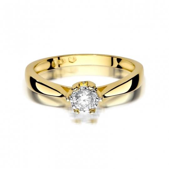 Złoty pierścionek z diamentem EY-429 0,20 ct