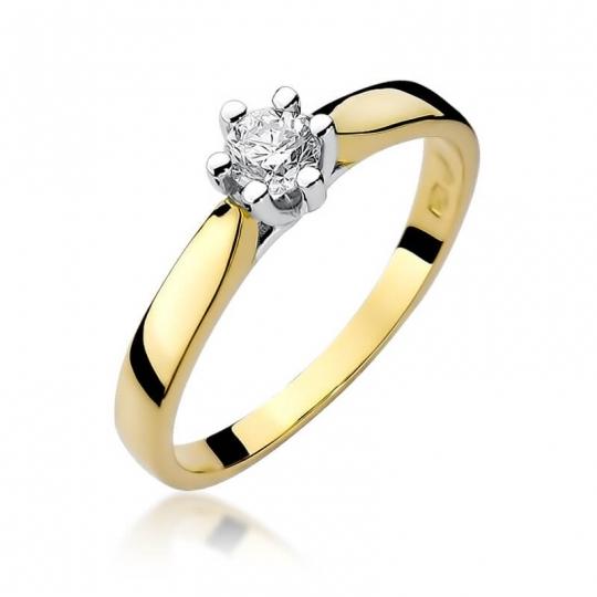 Złoty pierścionek z diamentem EY-222B 0,25ct
