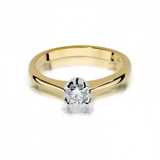 Złoty pierścionek z diamentem EY-47 0,30ct