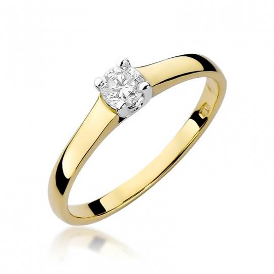 Złoty pierścionek z diamentem EY-239 0,20ct