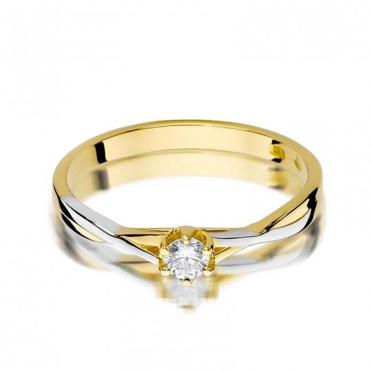 Złoty pierścionek z diamentem EY-340 0,12ct