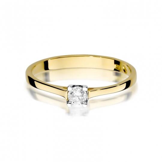 Złoty pierścionek z diamentem EY-336 0,15ct