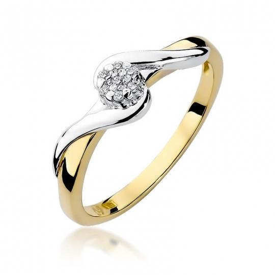 Złoty pierścionek z diamentem EY-22 0,04ct