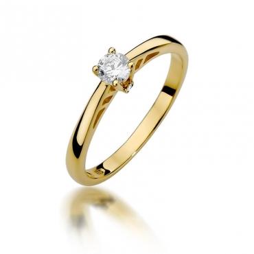 Złoty pierścionek z diamentem EY-394 0,24ct