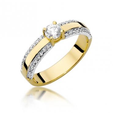Złoty pierścionek z diamentem EY-356 0,45ct