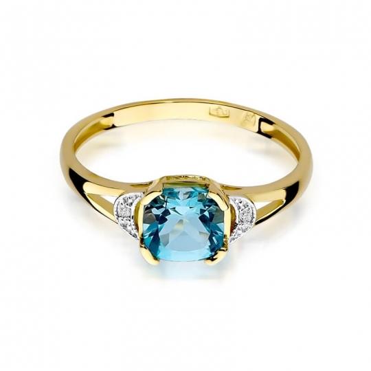 Złoty pierścionek z diamentem EY-40 topaz