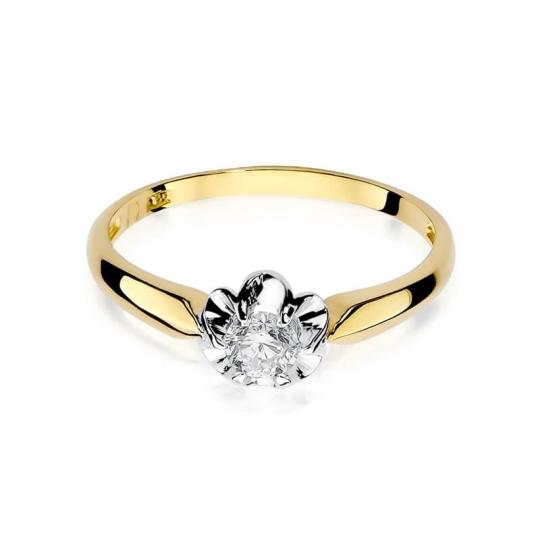 Złoty pierścionek z diamentem EY-203 0,23ct