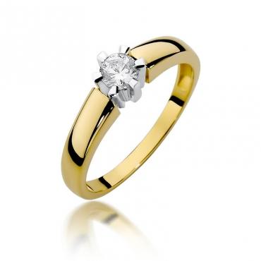Złoty pierścionek z diamentem EY-405 0,23ct