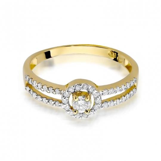 Złoty pierścionek z diamentem EY-272 0,31ct