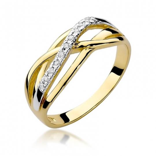Złoty pierścionek z diamentem EY-157 0,10ct