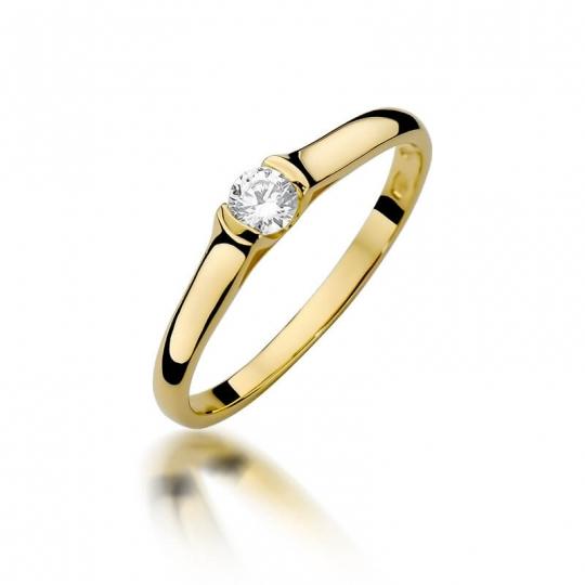 Złoty pierścionek z diamentem EY-369 0,15ct