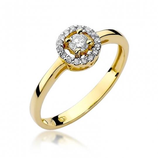 Złoty pierścionek z diamentem EY-238 0,20ct