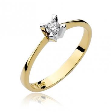 Złoty pierścionek z diamentem EY-58 0,12ct