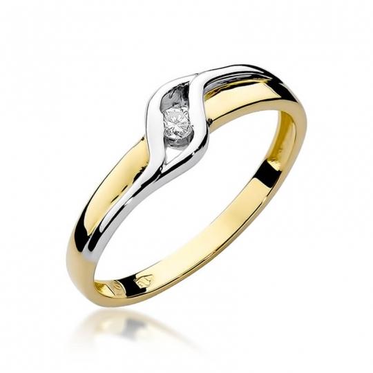 Złoty pierścionek z diamentem EY-178 0,04ct