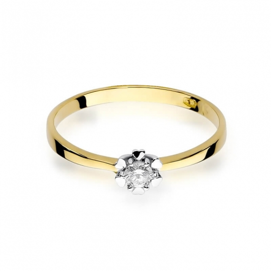 Złoty pierścionek z diamentem EY-53 0,10ct