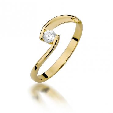 Złoty pierścionek z diamentem EY-366 0,15ct