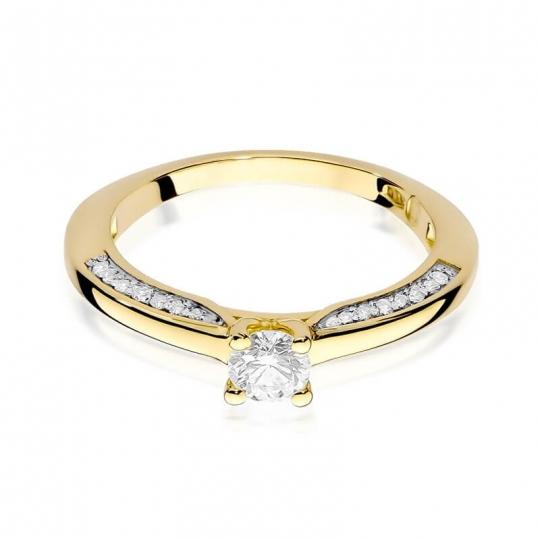 Złoty pierścionek z diamentem EY-9 0,44ct