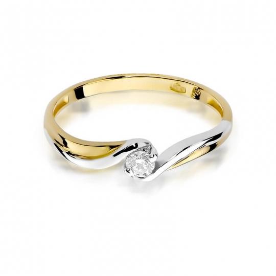 Złoty pierścionek z diamentem EY-211 0,08ct