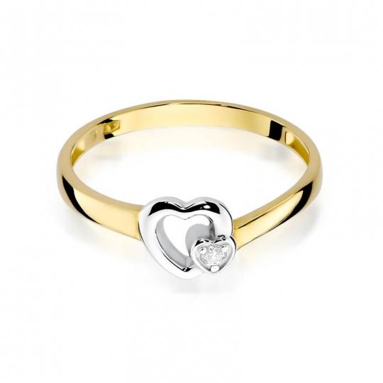 Złoty pierścionek z diamentem EY-188 0,02ct