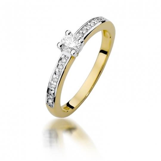 Złoty pierścionek z diamentem EY-288 0,28ct