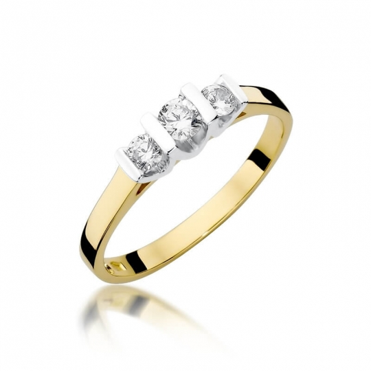 Złoty pierścionek z diamentem EY-338 0,31ct