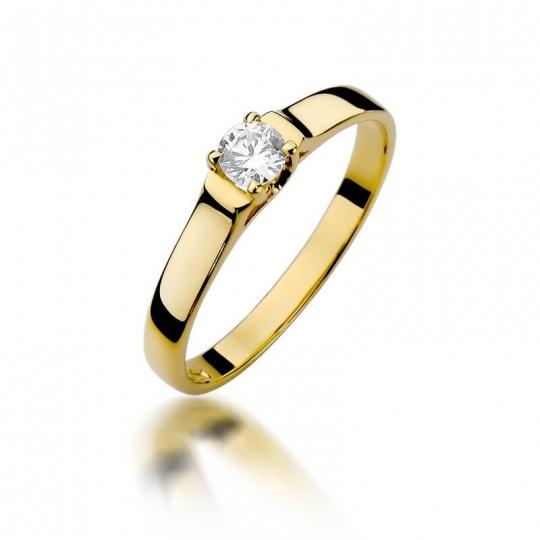 Złoty pierścionek z diamentem EY-381 0,18ct