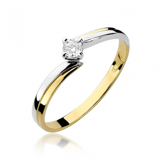 Złoty pierścionek z diamentem EY-231 0,10ct