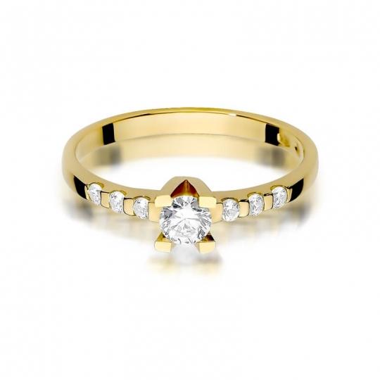 Złoty pierścionek z diamentem EY-368 0,37ct