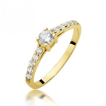 Złoty pierścionek z diamentem EY-409 0,60ct