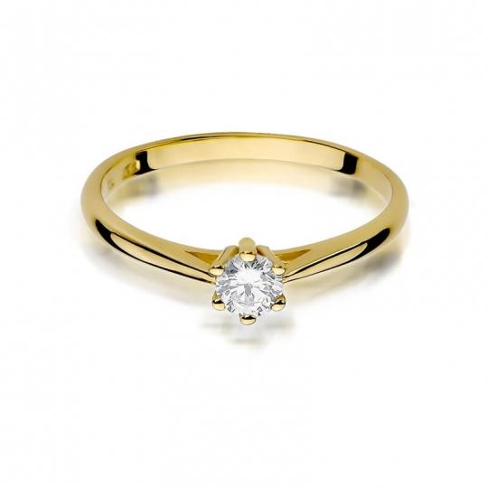 Złoty pierścionek z diamentem EY-365 0,15ct
