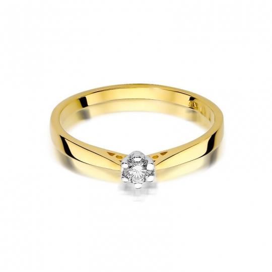 Złoty pierścionek z diamentem EY-229 0,10ct
