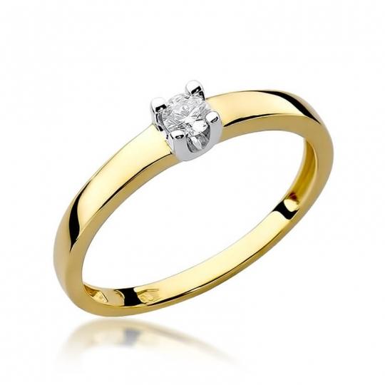 Złoty pierścionek z diamentem EY-225 0,08ct