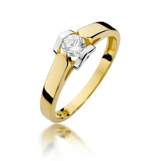 Złoty pierścionek z diamentem EY-320 0,30ct